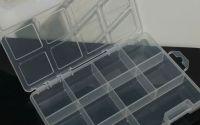 Cutie plastic segmentata 10 compartimente 195x14