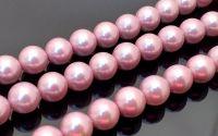 Perle sferice Mallorca roz 12 mm