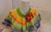 pelerina capa poncho colorat crosetat manual unic