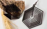 Cercei geometrici imprimai 3D - model 5