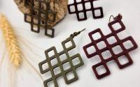 Cercei geometrici imprimai 3D - model 6