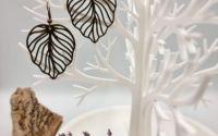 Cercei frunza imprimai 3D - model 10