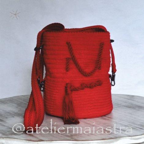 geanta roie handmade crosetata