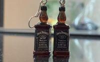 Cercei cu sticla whiskey Jack