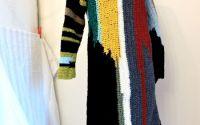 rochie crosetata manual colorata colaj