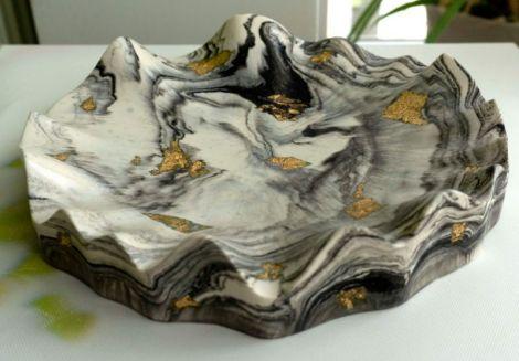 Platou central marble gold