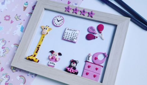 Tablou personalizat pentru bebelusi fetita