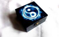 cutie lemn Yin Yang