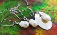 Set de bijuterii perle naturale si otel inoxidabil