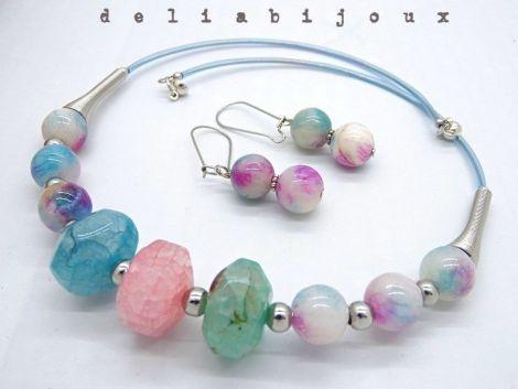 Set de bijuterii Persian Jade si agate