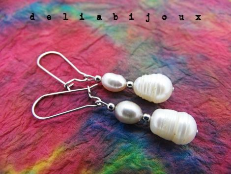 Cercei perle naturale de cultura