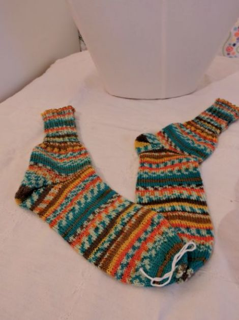 sosete adulti tricotat manual unicat colorati