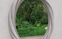 Oglinda ovala de peretestil vintage