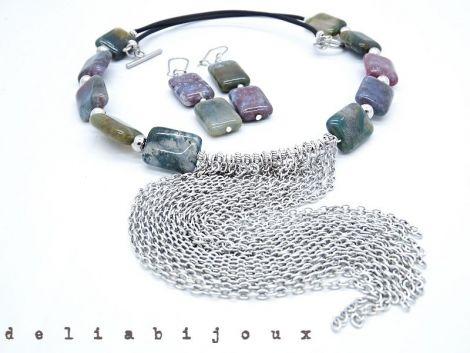 Set de bijuterii agate indiene cod509
