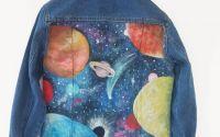Geaca pictata manual Galaxie