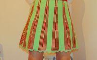 fusta verde tricotata manual