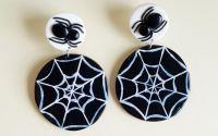 Cercei Halloween cu paianjen