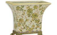 Vaza Art Nouveau din portelan cu bronz
