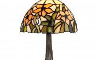 Mareste Lampa Tiffany din bronz cu flori