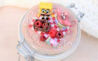 Spongebob la picnic cu zmeura - borcan 0.2l