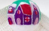 Glob mare cu casute colorate