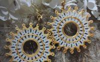 Cercei  Mandala cu tortite aurii