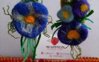 Cercei din flori impaslite