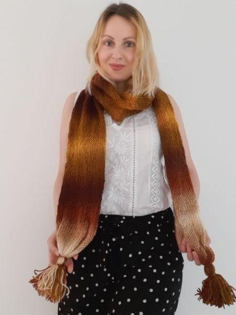 Fular tricotat manual