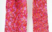 fular tricotat foarte colorat