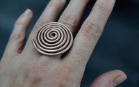 Inel din cupru cu spirala