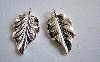 frunza argint tibetan 18x32 - 1 buc. cod283
