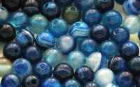 Agate sfere nuante de albastru - 6mm