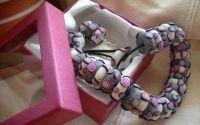 margele si cercei in nuante de roz