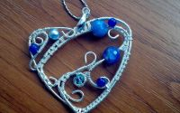 Pandant blue heart