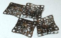 Vintage conector-link placat cu alama antique
