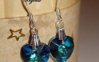 Cercei cristale swarovski - inimioara