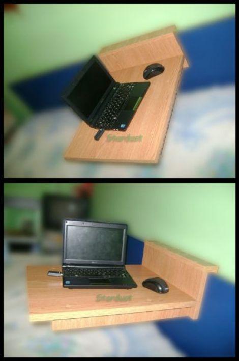Suport laptop pentru pat de colt