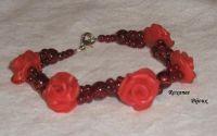 Bratara - trandafiri rosii