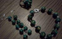 Set bratara cercei si inel Verde