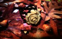 "Inel ""Chocolate rose"""