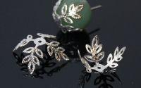 Capacele argintii ramuri filigran 13 mm