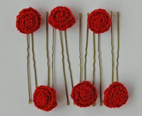 Ace de par cu trandafiri crosetati