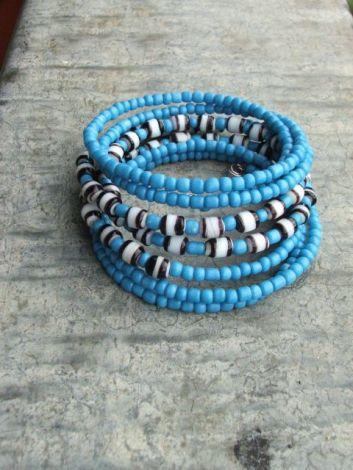 Bratara brownish blue