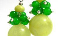 Cercei jad verde lime