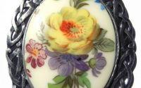Pandantiv cabochon floral