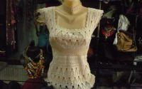 Fantezie - bluza crosetata din macrame fin