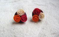 Cercei buchetel de trandafiri