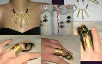 Set de bijuterii  negru si auriu