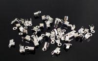 Capat de snur argintiu end cord 5.6 x 2.7 mm