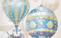 Servetel baloane albastre